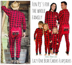 moose on skis matching pajama sets for whole family