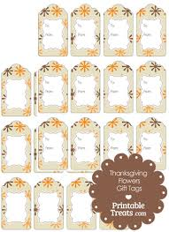 thanksgiving flowers gift tags printable treats
