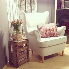 ikea hack diy wingback rocking chair ikea decora strandmon sessel weinkiste interiordesign interior ikea