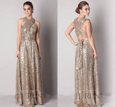 aliexpress com buy rose gold champagne sequin bridesmaid dresses
