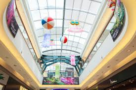 summer decoration at the mall of cyprus