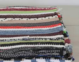 Woven Throw Rugs Washable Cotton Rug Etsy