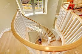 beautiful luxury modern staircase design with hardwood floor