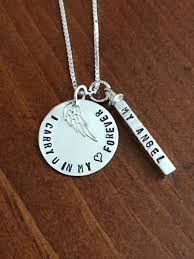 personalized memorial necklace personalized remembrance necklace kandsimpressions
