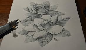 magnolia tattoo design by alexbark
