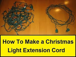 custom length christmas light strings how to make a christmas light extension cord howtolou com youtube