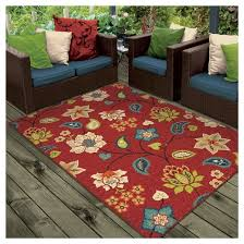 orian rugs st thomas promise indoor outdoor area rug red target