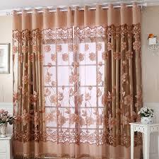 rideau fenetre chambre violet rideau voilage pour chambre rustique burnout fleur finis en