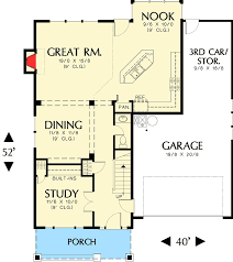 craftsman floorplans craftsman home plan with bonus room 6903am architectural