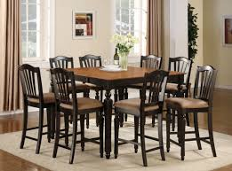 tall kitchen table sets fresh idea to design your counter height traditional dining room with square oak wood tall kitchen table set mission style cushion dining