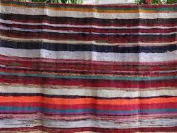 amazon com hand loomed rag rug floor mat decorative yoga mat