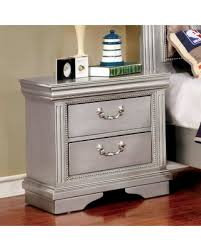 Silver Nightstand Ls Slash Prices On Furniture Of America Brummel Traditional Silver 2