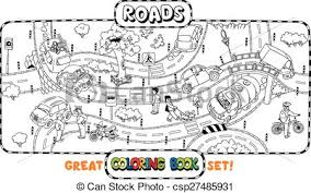 vectors big road coloring book coloring book