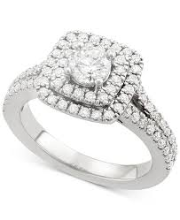square rings jewelry images Marchesa certified diamond square halo engagement ring 1 1 4 ct tif