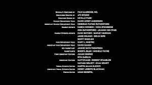 Credits To Barney And The by Who U0027s Who In Movie Credits What Do All Those People Do Anyway