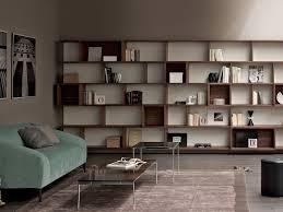 modular bookcase wall mounted contemporary for offices e