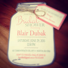 bridal shower invitations bridal shower invitations jar theme