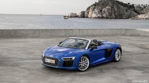 audi r8 wallpaper blue 2017 audi r8 v10 spyder color ara blue front three quarter