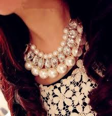 fashion pearls necklace images Jewels gold gold sequins pearl pearl necklace statement jpg