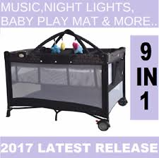 Playpen Bassinet Changing Table New 9 In1 Baby Portacot Playpen Bassinet Removable Playmat With