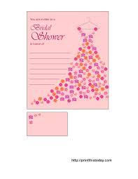 printable bridal shower invitations free printable bridal shower invitations floral gown