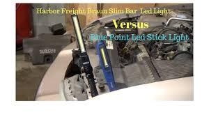 harbor freight light bar blue point led stick light vs harbor freight braun slim bar led