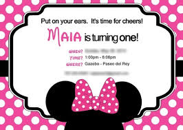 minnie mouse birthday party invitations blueklip com