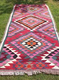 Aztec Runner Rug Wool Rug Kilim Carpet Runner Afghanistan Via Etsy Aztec Runner