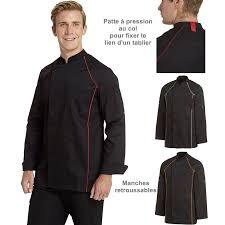 veste cuisine couleur veste de cuisine passepoil de couleur devant et derrière boutons