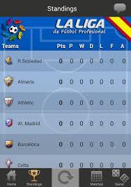 la liga live scores and table la liga live 2014 2015 free download of android version m