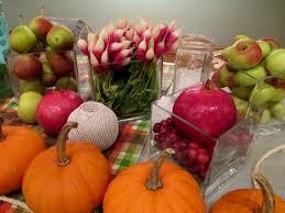 Happy Thanksgiving Make A Cornucopia Of Fresh Fruit U0026 Flowers