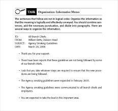 memo format sample business memo sample template for