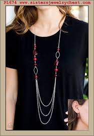 red necklace accessories images Jewel jackpot red paparazzi accessories jpg