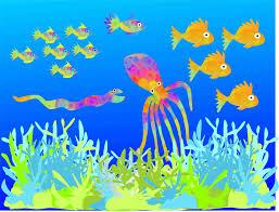 fish animation painting puppies