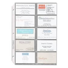Clear Business Cards Sparco Business Card Sleeves 10 Pack Clear Quickship Com