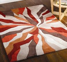Modern Rugs Ltd Splinter Burnt Orange Redecorating Pinterest Orange Rugs