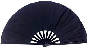 silk fans folding silk fan 13 black