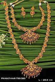 jewelry designs necklace sets images One gram gold plated matt finish contemporary long haram necklace jpg