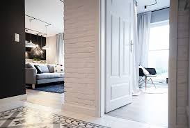 Exposed Brick Apartments Affordable Apartment Makeover Relies On Inspired Custom Solutions