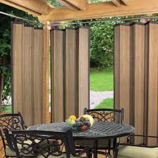 Contemporary Drapery Panels Furniture Brown Grommet Curtain Panels Drapery Panels