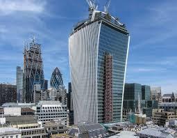 london glass building dramatically curved glass building generates hazardous urbanglass