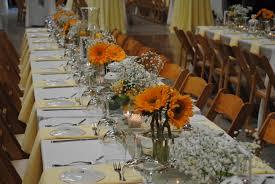photo modern 4 foot banquet table sunflower theme on pinterest