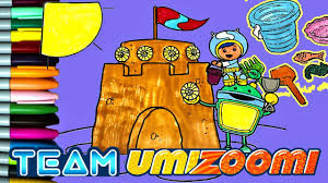 team umizoomi making sand castle coloring book team umizoomi