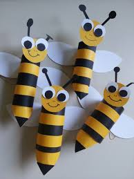 toilet paper roll bees sorry no link but i think you can