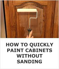 how to paint kitchen cabinets using liquid sandpaper how to quickly paint kitchen cabinets without sanding