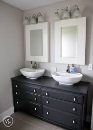 yes please the upstairs bathroom dark grey dresser made into a