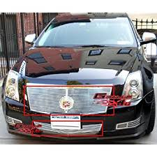 2010 cadillac cts grill amazon com fit 2008 2013 cadillac cts black stainless steel mesh