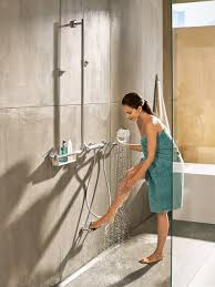 Shower Comfort Unica Comfort Shower Bar Right By Hansgrohe Stylepark
