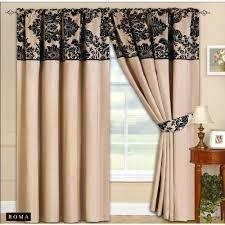 Black Curtain Cream And Black Curtains Amazon Co Uk