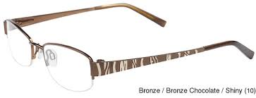 where to buy chocolate glasses buy st honore s2501 semi rimless half frame prescription eyeglasses
